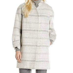 NWT Rebecca Taylor Grey Icicle Cocoon Coat Size 4